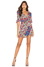 MAJORELLE Janelle Mini Dress in Patchwork Multi