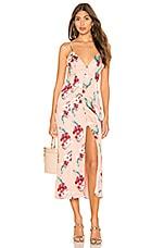 MAJORELLE Wyatt Midi Dress in Pink Tropical
