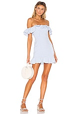 MAJORELLE Daze Away Dress in Blue Plaid