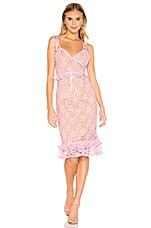 MAJORELLE Ellington Midi Dress in Candy Pink