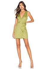 MAJORELLE Simone Mini Dress in Pear Green