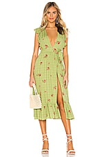 MAJORELLE Mistwood Dress in Green Picnic