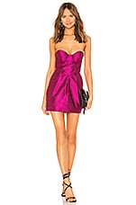 MAJORELLE Carmela Mini Dress in Fuchsia Pink