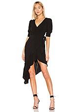 MAJORELLE Delilah Midi Dress in Black