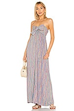 MAJORELLE Vienna Maxi Dress in Rainbow Stripe