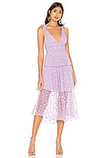 MAJORELLE Rowan Midi Dress in Amethyst Purple