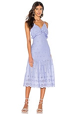MAJORELLE Isla Midi Dress in Periwinkle Blue
