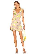 MAJORELLE Annalise Mini Dress in Tan Lemon
