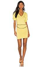 MAJORELLE Cooper Sweater Dress in Light Yellow