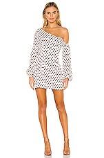 MAJORELLE Mandy Mini Dress in Maroon Dot