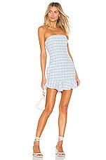 MAJORELLE Talan Dress in Blue Plaid