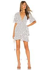 MAJORELLE Portia Dress in Maroon Dot