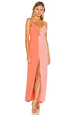 MAJORELLE Dailey Gown in Orange & Sherbet