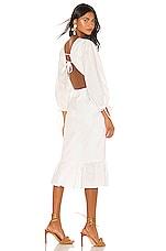 MAJORELLE Heidi Midi Dress in White