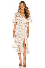 MAJORELLE Alejandra Midi Dress in White Prairie