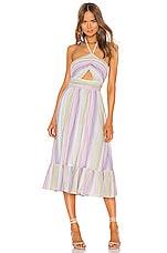 MAJORELLE Electra Midi Dress in Pastel Multi