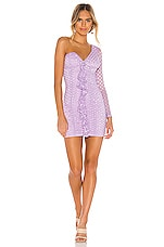 MAJORELLE Karissa Mini Dress in Amethyst Purple