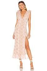 MAJORELLE Greta Maxi Dress in Snake Multi