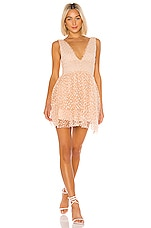 MAJORELLE Dora Mini Dress in Blush Nude