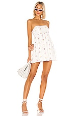 MAJORELLE Addy Mini Dress in White Multi