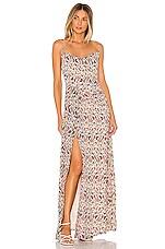 MAJORELLE Talia Maxi Dress in Leopard Multi