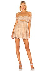 MAJORELLE Kerry Mini Dress in Blush Nude