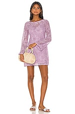 MAJORELLE Calvin Mini Dress in Purple