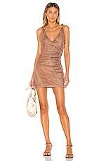 MAJORELLE Juliet Mini Dress in Desert Brown