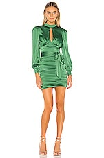 MAJORELLE Bristol Mini Dress in Jewel Green