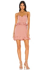 MAJORELLE Austin Mini Dress in Dusty Pink
