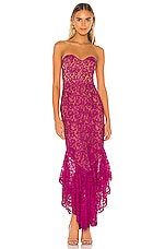MAJORELLE Eduarda Gown in Magenta Purple