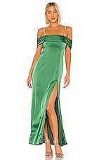 MAJORELLE Mitchell Gown in Jewel Green