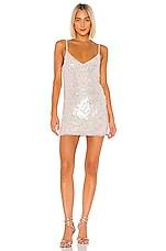 MAJORELLE Dena Mini Dress in Pearl Nude