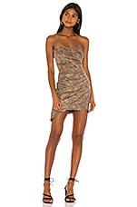 MAJORELLE Finch Mini Dress in Tan Snake