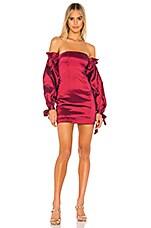 MAJORELLE Sky Dress in Maroon