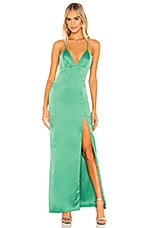 MAJORELLE Jackson Gown in Green