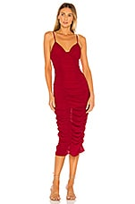 MAJORELLE Eugenie Midi Dress in Red