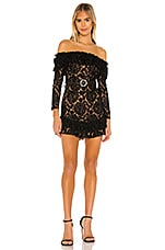 MAJORELLE Argyle Mini Dress in Black