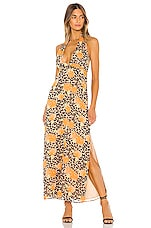 MAJORELLE Carine Maxi Dress in Leopard Multi
