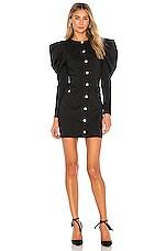 MAJORELLE Coretta Mini Dress in Black