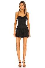 MAJORELLE Shelley Mini Dress in Black