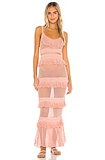MAJORELLE Aurelia Crochet Dress in Rose