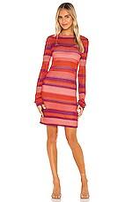 MAJORELLE Rhapsody Knit Dress in Coral Stripe