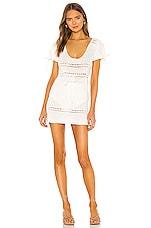 MAJORELLE Calca Crochet Dress in White