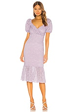 MAJORELLE Sammy Midi Dress in Purple Frost