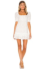 MAJORELLE Brio Mini Dress in White