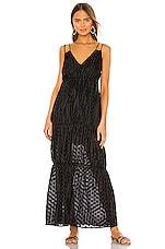 MAJORELLE Yates Maxi Dress in Black