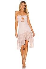 MAJORELLE Emelia Midi Dress in Sparkle Pink