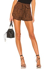 MAJORELLE Kimberly Shorts in Leopard
