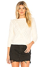 MAJORELLE Cable Knit Sweater in Cream